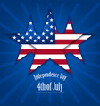 greeting card happy independence day 4th july vector image vector image
