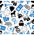 hacker and computer security theme icons seamless vector image vector image