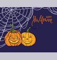 halloween background happy calligraphy vector image