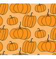 halloween pumpkin pattern orange backgrou vector image vector image