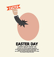 Hand Through An Egg Easter Day Concept vector image