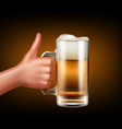 hand with mug vector image