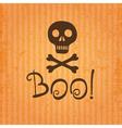 happy halloween skull and crossbones vector image