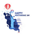 happy independence day of america 4th of july vector image