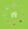 house and icons collection vector image vector image