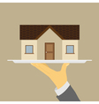 house on tray vector image vector image