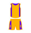 isolated basketball sport uniform vector image vector image