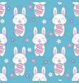 kawaii easter seamless pattern with a cute bunny vector image vector image