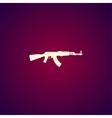 machine gun icon concept for vector image vector image