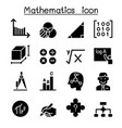 mathematics icon set vector image