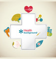 medical health background vector image vector image