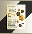 merry christmas celebration flyer design in gold vector image