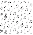 Musical notes seamless pattern vector image