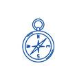 navigation compass line icon concept navigation vector image vector image