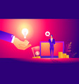 online assistant at work vector image vector image