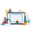 online business school distance education web vector image