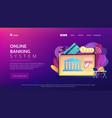 open banking platform concept landing page vector image vector image