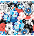 pattern flowers and abstractions vector image vector image