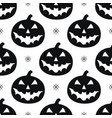 pattern with black pumkins vector image vector image