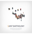 people map country Saint Barthelemy vector image vector image