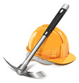 Pickaxe with Helmet vector image