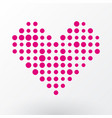 pink heart of the small dots vector image vector image