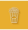 popcorn design element vector image