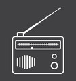 radio line icon fm and communication vector image