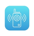 Radio set line icon vector image vector image