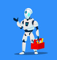 robot repair man master service isolated vector image