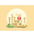 Rome city flat vector image vector image