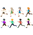 Running kids vector image