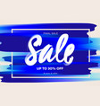 sale banner template midseason sale blue vector image