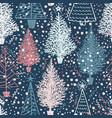 seamless christmas pattern with christmas vector image vector image