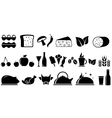 set food isolated objects vector image