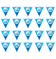 Set of 20 cars wit signs triangular map pointer