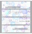 Set of modern banners Hand drawn floral doodle vector image vector image