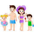 summer holiday with family on the beach vector image