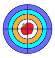 target with apple for a tripod goal achieve vector image vector image