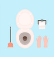 toilet equipment paperrollgloves vector image vector image
