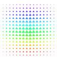 warning icon halftone spectrum effect vector image vector image