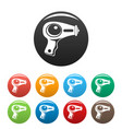 water pistol icons set color vector image