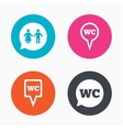WC Toilet pointer icons Gents and ladies room vector image vector image