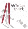 Winter landscape with ski vector image