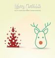 with christmas and christmas tree vector image vector image