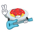 with guitar spaghetti character cartoon style vector image vector image