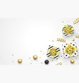 year greeting card golden gift vector image