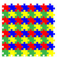 red green yellow blue puzzles vector image