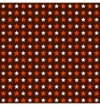 Seamless Red and White Stars Pattern Background vector image