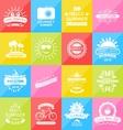 Set Summer Holidays Labels Design Elements vector image